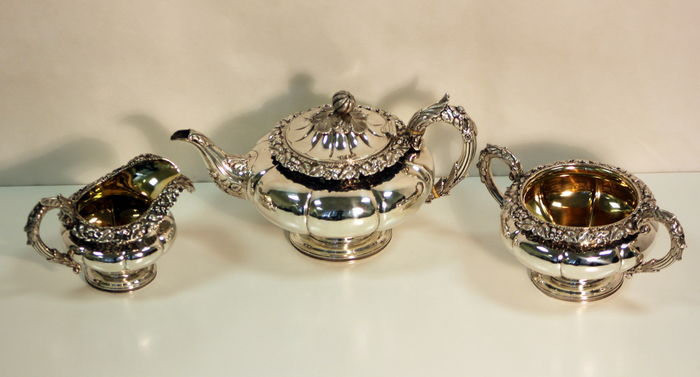 Solid Sterling Silver Tea Set, ,Edinburgh, 1829, Made by James Howden & Co