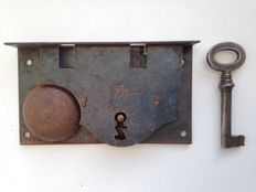 Antique bell lock - iron - The Netherlands - Mid 19th century
