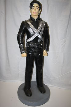 "sculpture; Michael Jackson ""Super Bowl halftime show outfit"" 115cm tall."
