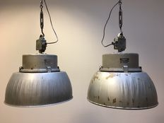 Designer unknown - large industrial factory lights (2 x)