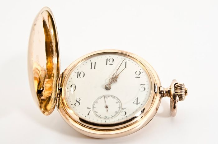 Omega pocket watch 14KT Rose Gold