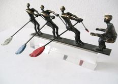 Corrie Ammerlaan-van Niekerk - sculpture of three oarsmen and coxswain