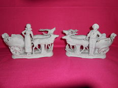 A couple of figures in biscuit/porcelain - Made in Germany.
