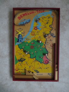 "Homas - old marble game ""Benelux Tour"""