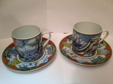 Hermes - Porcelain 2 Set Cup and Saucer