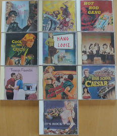 Collection of 10 rare Rock & Roll and Rockabilly sampler CD's on the Buffalo Bop label