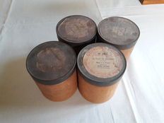 Four antique wax phonograph cylinders in playable condition