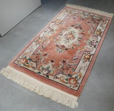 Beautiful Chinese Ambusson rug – 158 x 92 – very good condition – with certificate – No reserve