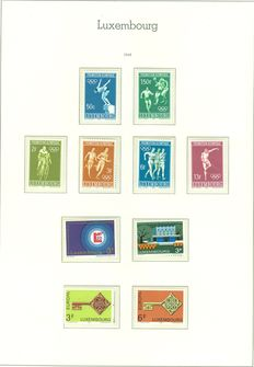 Luxembourg 1968/1986 – Collection between Michel 765 and 1167