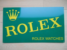Rolex metal advertising sign from 1999.