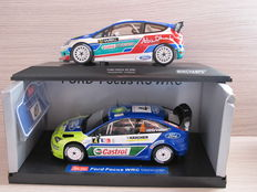 Minichamps / Sun Star - Schaal 1/18 - Ford Fiesta RS WRC & Ford Focus RS WRC