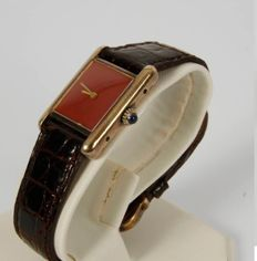 Cartier Tank Vermeil - Women's watch - Year 1980