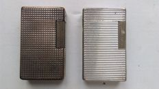 2 silver plated Dupont lighters