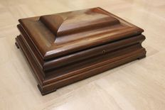 A Louis Philippe mahogany writing nécessaire - France - mid 19th century