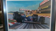 Very Rare Nigel Mansell/uk/Williams Hand signed Limited edition Colin Carter print