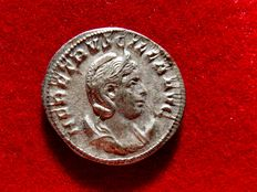 Roman Empire - Herennia Etruscilla silver antoninianus (3,73 grs. 23 mm.) from Rome mint, 6th. officina. 250 A.D. PVDICITIA AVG.