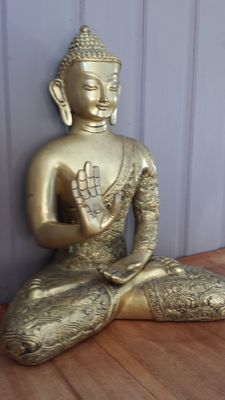 Brass Buddha statue - India - second half of the 20th century