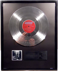 """The Rolling Stones - December's Children - 12"""" London Record platinum plated record by WWA Awards"""