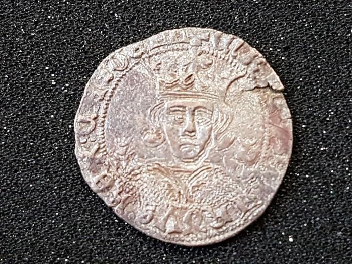 Spain, Enrique IV, 1/4 of real, 1454-1474, mint in Toledo, scarce coin.