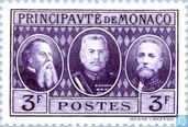 Postage Stamps - Monaco - Charles III, Louis II and Albert I of Monaco