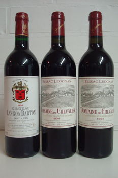 2x 1994 Domaine de Chevalier, GCC de Graves & 1x 1994 Chateau Langoa-Barton, GCC St.-Julien – 3 bottles in total (75cl)
