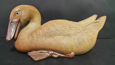 Ornamental Chinese Porcelain Duck - Second Half of 20th Century