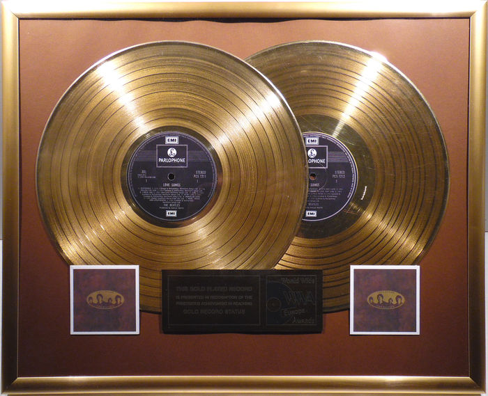 "The Beatles - Love Songs double 12"" Parlophone Album golden plated record  by WWA"