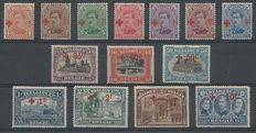 Belgium 1918 - Red Cross issue with red overprint - OCB 150/163