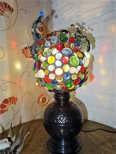 Colourful table lamp in Gaudi Style