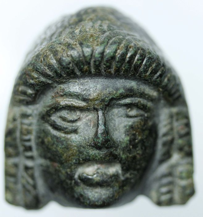 Roman bronze applique, bust - 38mm