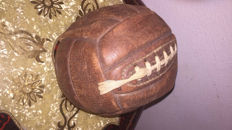 Leather lace up football and leather football shoes years 1930