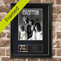 "Led Zeppelin - Lp "" Physical Graffiti"" and  RARE Signed Autograph Mounted Photo (Print ) by the members of the Band"