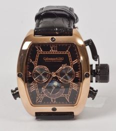 Calvaneo 1583 Tonneau II rose gold calendar – men's wristwatch – 2017.