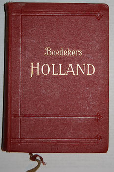 Baedeker - Lot with 6 travel guides for The Netherlands and Belgium - 1888 / 1927