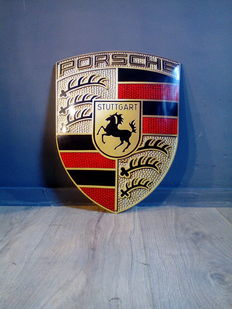 Porsche - enamel shield / sign - enamel plaque