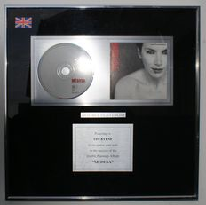 "Annie Lennox: Framed Platinum Disc for Medusa & Ltd. Edition of Double CD/DVD ""Nostalgia"" with Ltd. Edition Poster, All Mint Condition Still shrink Wrapped"