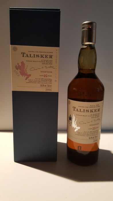 Talisker aged 25 years single malt whisky 2006