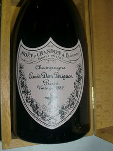1982 Dom Perignon Rosè Vintage Cuvée - 1 bottle in box