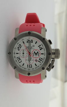 Max - wristwatch - chronograph - pink.