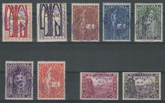 Belgium 1928 – First orval with a special violet stamp – OCB PR3/PR11