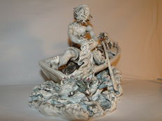 Beautiful Capodimonte fisherman in all its glory