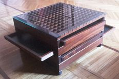 Bernard Vuarnesson for Bellato – 'Tetra' original coffee table with sliding trays
