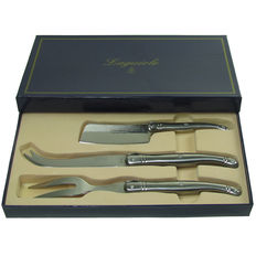 Aguiole cheese knife set - 3-PCs - cheese cutlery - cheese cleaver knife - gift packaging