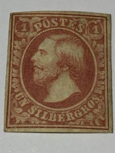 Luxembourg 1852 – King Guillaume III (a Silbergross)