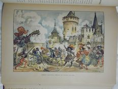 Rabelais - Oeuvres de Rabelais. Illustrations by Albert Robida - 2 volumes - no date (around 1885)