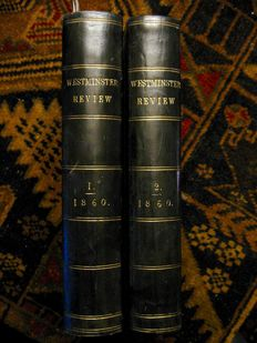 Thomas Huxley -The Origins of the Species a review in the Westminster Review - 2 volumes - 1860