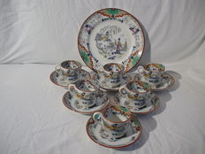 Petrus Regout - Timor - 6 cups and saucers + plate