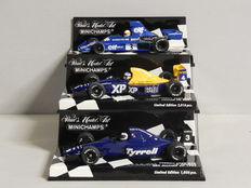 Minichamps - Scale 1/43 - Lot with 3 x Tyrrell Ford
