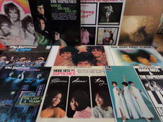 Lot of ten beautiful albums of the Supremes.