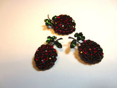 Henry Schreiner  – Demi Parure brooch and clip earrings - New York 1950.